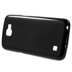 Matný gélový obal pre mobil LG K4 - čierne - 2