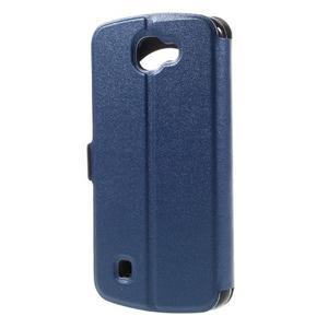 Trend pouzdro s okýnkem na mobil LG K4 - modré - 2