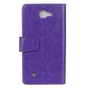 Leat peňaženkové puzdro pre LG K4 - fialové - 2