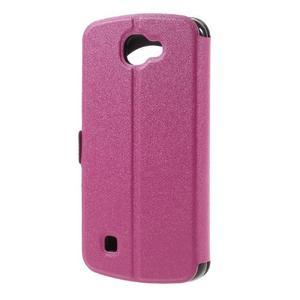 Trend pouzdro s okýnkem na mobil LG K4 - rose - 2