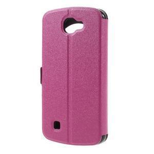 Trend puzdro s okienkom na mobil LG K4 - rose - 2