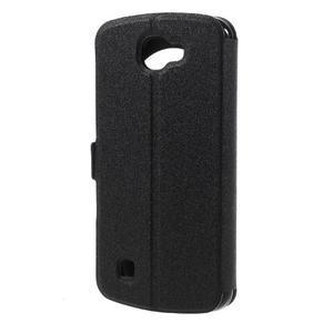 Trend puzdro s okienkom na mobil LG K4 - čierne - 2