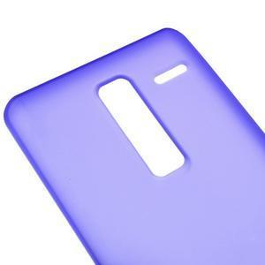 Matný gélový obal pre mobil LG Zero - fialový - 2