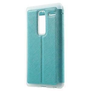 Cross peňaženkové puzdro s okienkom na LG Zero - modré - 2
