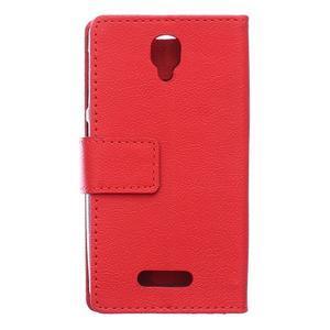 Wallet pouzdro na mobil Lenovo A1000 - červené - 2