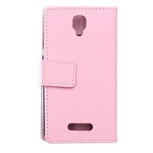 Wallet puzdro pre mobil Lenovo A1000 - ružové - 2
