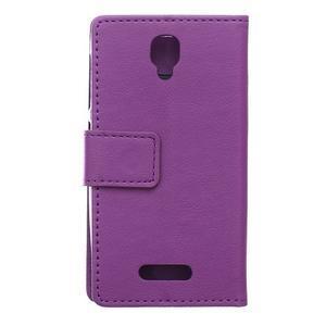 Wallet puzdro pre mobil Lenovo A1000 - fialové - 2