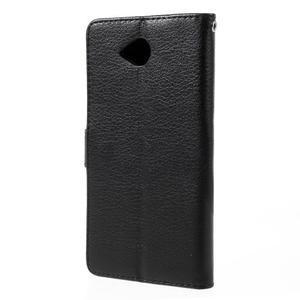 Funny peňaženkové puzdro na mobil Microsoft Lumia 650 - čierné - 2