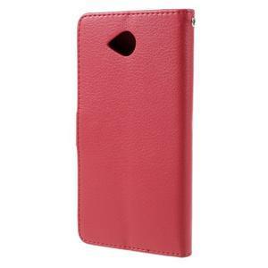 Funny peňaženkové puzdro na mobil Microsoft Lumia 650 - červené - 2
