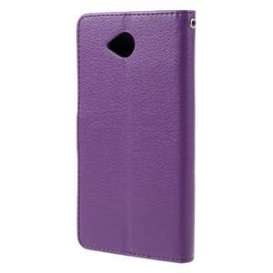 Funny peňaženkové puzdro na mobil Microsoft Lumia 650 - fialové - 2