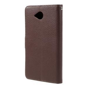 Funny peňaženkové puzdro na mobil Microsoft Lumia 650 - hnedé - 2