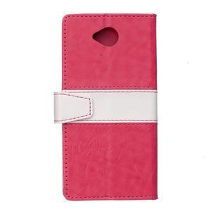 Flag peněnžekové puzdro pre Microsoft Lumia 650 - rose - 2