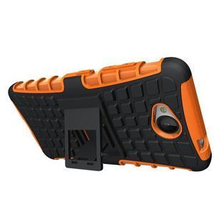 Outdoor odolný obal pre mobil Microsoft Lumia 650 - oranžový - 2