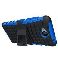 Outdoor odolný obal pre mobil Microsoft Lumia 650 - modrý - 2/5