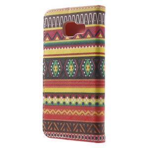 Peňaženkové puzdro na mobil Samsung Galaxy A3 (2016) - tribal - 2