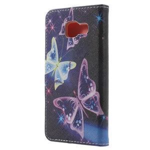 Peňaženkové puzdro na mobil Samsung Galaxy A3 (2016) - kouzelní motýlci - 2