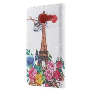 Peňaženkové puzdro pre mobil Samsung Galaxy A3 (2016) - Eiffelova veža - 2