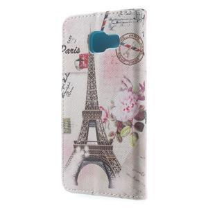 Peňaženkové puzdro pre mobil Samsung Galaxy A3 (2016) - Eiffelovka - 2
