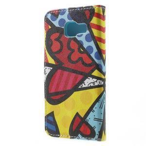Peňaženkové puzdro pre mobil Samsung Galaxy A3 (2016) - farebný motýl - 2