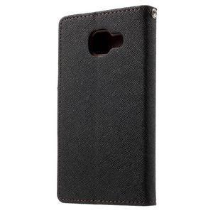 Goospery peňaženkové puzdro na Samsung Galaxy A3 (2016) - čierné/hnedé - 2