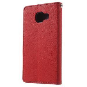 Goospery peňaženkové puzdro na Samsung Galaxy A3 (2016) - červené - 2