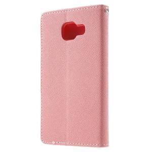 Goospery peňaženkové puzdro na Samsung Galaxy A3 (2016) - růžové - 2