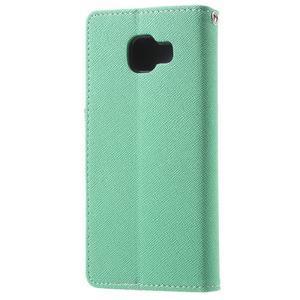 Goospery peňaženkové puzdro na Samsung Galaxy A3 (2016) - cyan - 2
