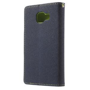 Goospery peňaženkové puzdro na Samsung Galaxy A3 (2016) - tmavo modré - 2
