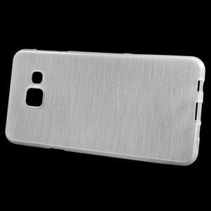 Gélový obal s motivem broušení na Samsung Galaxy A3 (2016) - biely - 2