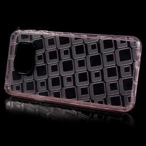 Square gélový obal na mobil Samsung Galaxy A3 (2016) - růžový - 2