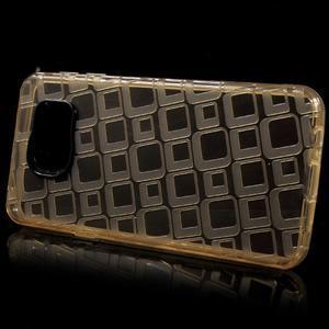Square gélový obal pre mobil Samsung Galaxy A3 (2016) - zlatý - 2