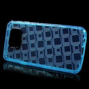Square gélový obal pre mobil Samsung Galaxy A3 (2016) - modrý - 2