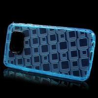 Square gélový obal pre mobil Samsung Galaxy A3 (2016) - modrý - 2/5