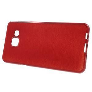 Gélový obal s motívom broušení pre Samsung Galaxy A3 (2016) - červený - 2