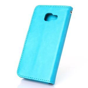 Wallet puzdro na mobil Samsung Galaxy A3 (2016) - modré - 2