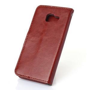 Wallet puzdro na mobil Samsung Galaxy A3 (2016) - hnedé - 2