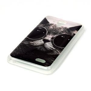 Gélový obal na mobil Lenovo A536 - kočka mafián - 2