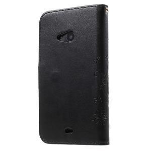 Butterfly peňaženkové puzdro na Microsoft Lumia 535 - čierné - 2