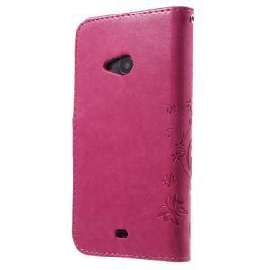 Butterfly peňaženkové puzdro na Microsoft Lumia 535 - rose - 2