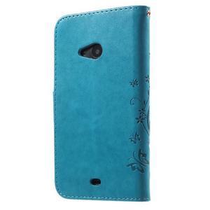 Butterfly peňaženkové puzdro na Microsoft Lumia 535 - modré - 2