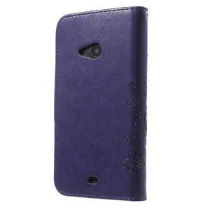 Butterfly peňaženkové puzdro na Microsoft Lumia 535 - fialové - 2