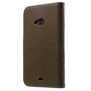 Butterfly peňaženkové puzdro na Microsoft Lumia 535 - coffee - 2