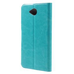 Horse peňaženkové puzdro pre mobil Microsoft Lumia 650 - modré - 2