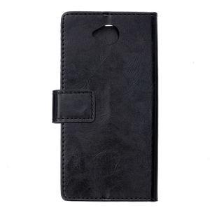 Fold peňaženkové puzdro na Microsofst Lumia 650 - čierné - 2