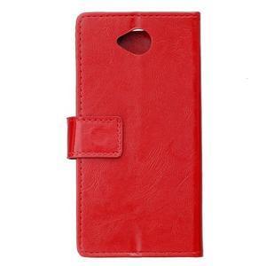 Fold peňaženkové puzdro na Microsofst Lumia 650 - červené - 2