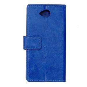 Fold peňaženkové puzdro na Microsofst Lumia 650 - modré - 2