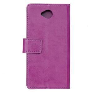 Fold peňaženkové puzdro na Microsofst Lumia 650 - fialové - 2