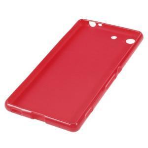 Lesklý gélový obal pre mobil Sony Xperia M5 - červený - 2