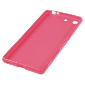 Lesklý gélový obal pre mobil Sony Xperia M5 - rose - 2
