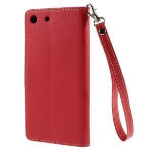 Blade Peňaženkové puzdro pre Sony Xperia M5 - červené - 2